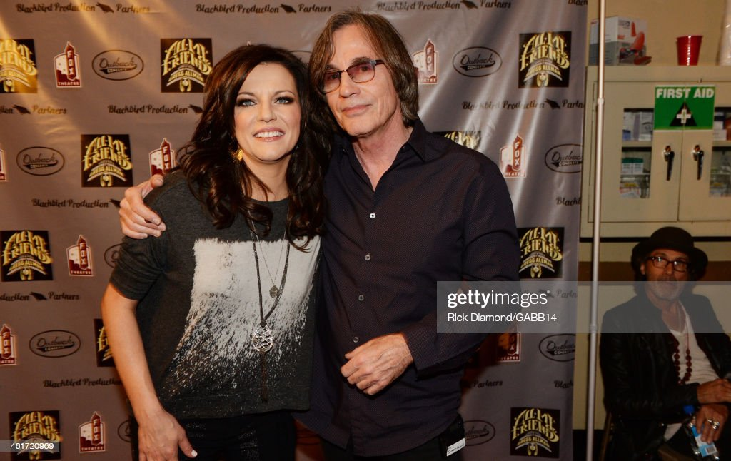 Martina McBride and Jackson Browne attend All My Friends Celebrating the Songs Voice of Gregg Allman at The Fox Theatre on January 10 2014 in Atlanta...