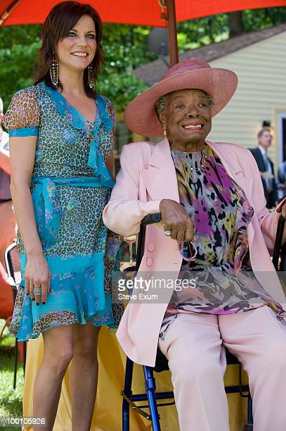 Martina McBride and poet Dr Maya Angelou attend Dr Maya Angelou's 82nd birthday party with friends and family at Angelou's home on May 20 2010 in...
