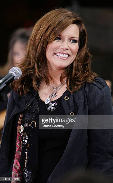 Martina McBride during Martina McBride Performs on NBC's 'The Today Show' October 21 2005 at NBC Studios Rockefeller Plaza in New York City New York...