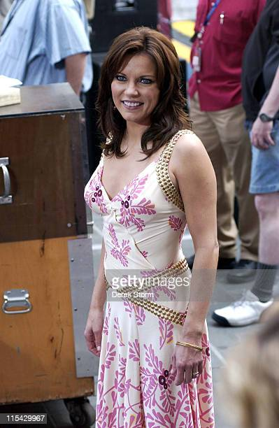 Martina McBride during The 'Today Show' says Farewell to Katie Couric at Dean Deluca Plaza in New York City New York United States