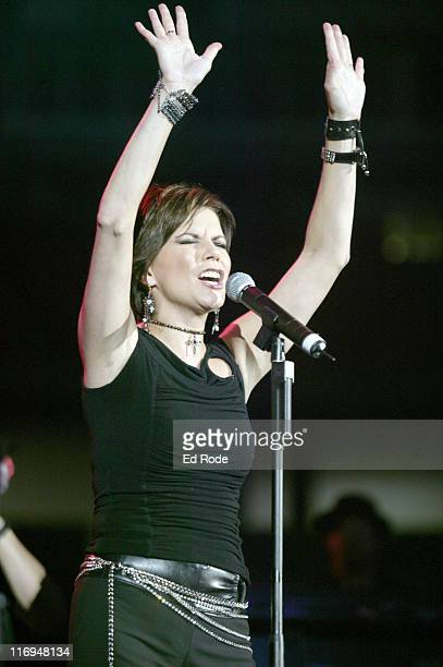 Martina McBride hits a high note for the crowd at her FanFair 2003 performance in Nashville