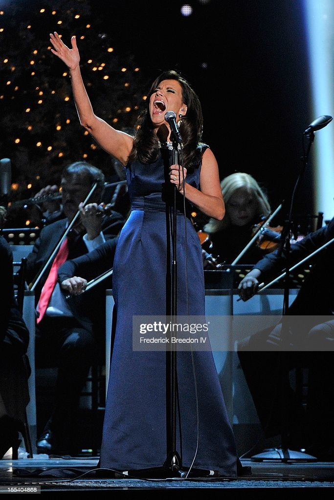 Martina McBride performs during the 2012 Country Christmas at the Bridgestone Arena on November 3, 2012 in Nashville, United States.