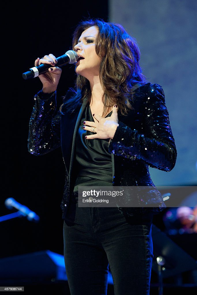 Martina McBride performs during the 2014 Country Music Hall of Fame induction ceremony at Country Music Hall of Fame and Museum on October 26, 2014 in Nashville, Tennessee.