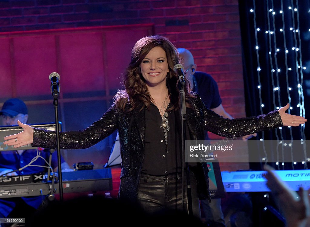Martina McBride performs during the 'Skyville Live' Launch Featuring Martina McBride Gladys Knight And Special Guest Estelle at Skyville Live studios...