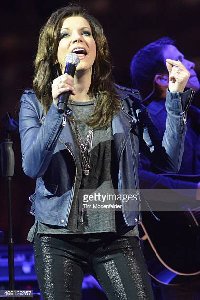 Martina McBride performs in advance of her Everlasting release at SAP Center on January 30 2014 in San Jose California