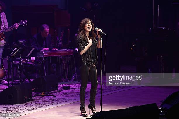 Martina McBride performs on stage during The Life Songs of Emmylou Harris An All Star Concert Celebration at DAR Constitution Hall on January 10 2015...