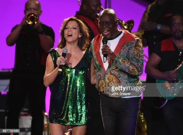 Martina McBride performs onstage with Philip Bailey of Earth Wind Fire during CMT Crossroads Earth Wind Fire and Friends on June 6 2017 in Nashville...