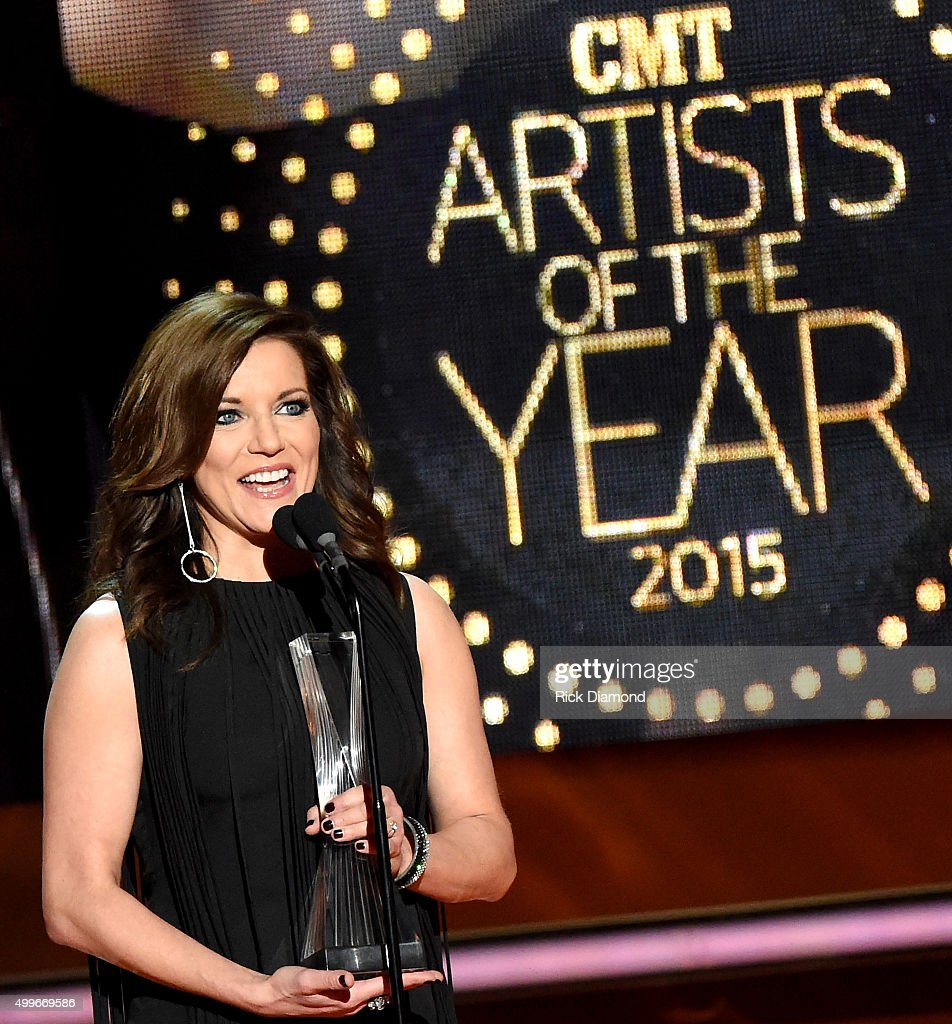 Martina McBride speaks onstage during the 2015 'CMT Artists of the Year' at Schermerhorn Symphony Center on December 2 2015 in Nashville Tennessee
