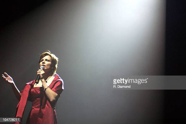 Martina Mcbride's 'The Joy of Christmas' 2002 Rehearsals Tour opening in Philadelphia at the First Union Center on 112602