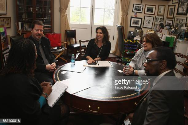 Martina McBridge meets with staff of Rep John Lewis at The Recording Academy®'s annual GRAMMYs on the Hill® Advocacy Day which brought more than 100...