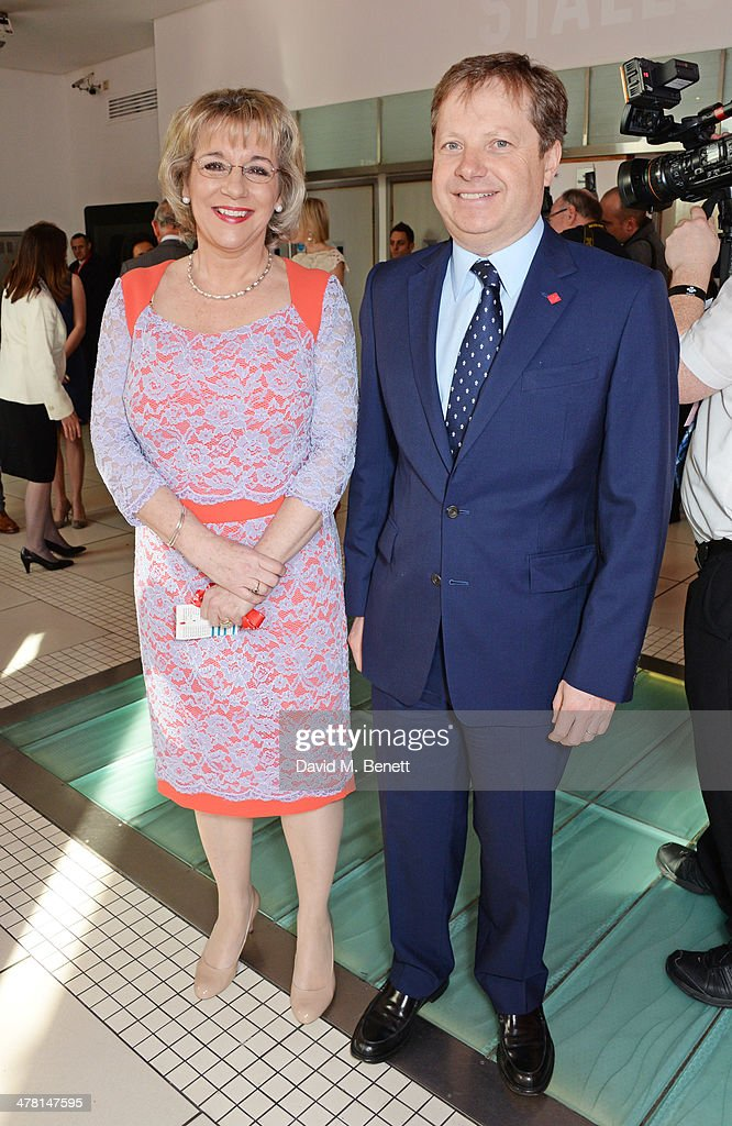 Martina Milburn, chief executive of The Prince's Trust, and Sir Charles Dunstone attend The Prince's Trust & Samsung Celebrate Success Awards at Odeon Leicester Square on March 12, 2014 in London, England.