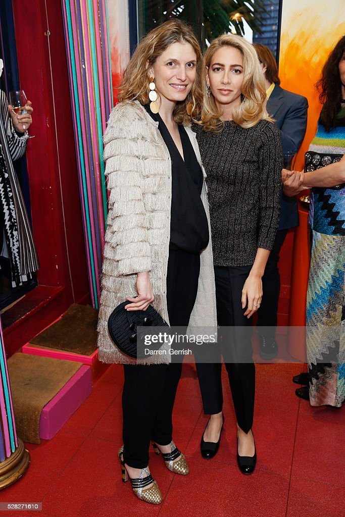 Martina Mondadori and Sabine Getty attend the Missoni Art Colour preview in partnership with The Woolmark Company at The Fashion and Textile Museum on May 4, 2016 in London, England.