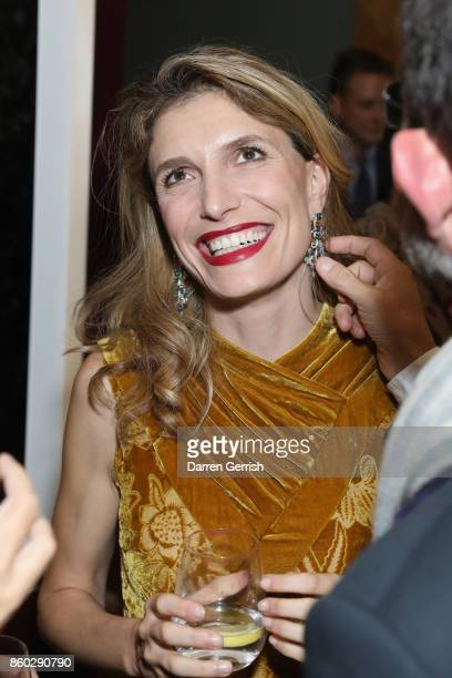 Martina Mondadori attends Giampiero Bodino's 'Beauty Is My Favourite Colour' cocktails and dinner evening at Spencer House on October 11 2017 in...