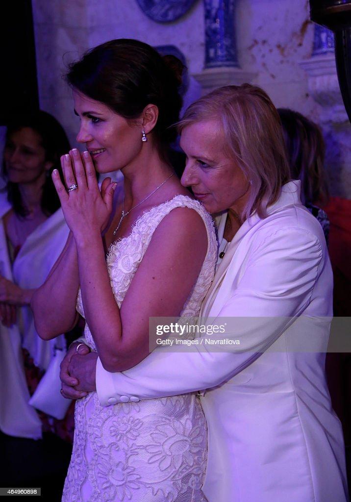 Martina Navratilova And Julie Lemigova Attends The Wedding Reception On February
