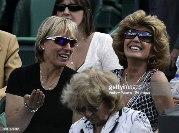 Martina Navratilova and Rula Lenska during The All England Lawn Tennis Championship at Wimbledon