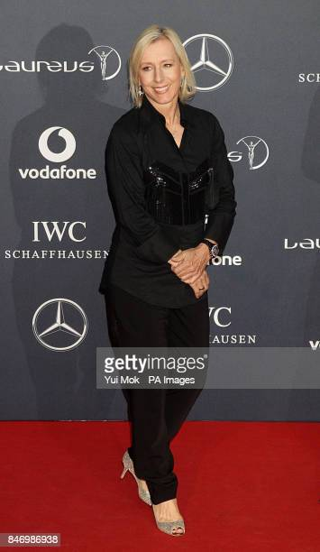 Martina Navratilova arrives for 2012 Laureus World Sports Awards at Central Hall Westminster Storey's Gate London