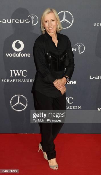 Martina Navratilova arriving for 2012 Laureus World Sports Awards at Central Hall Westminster Storey's Gate London