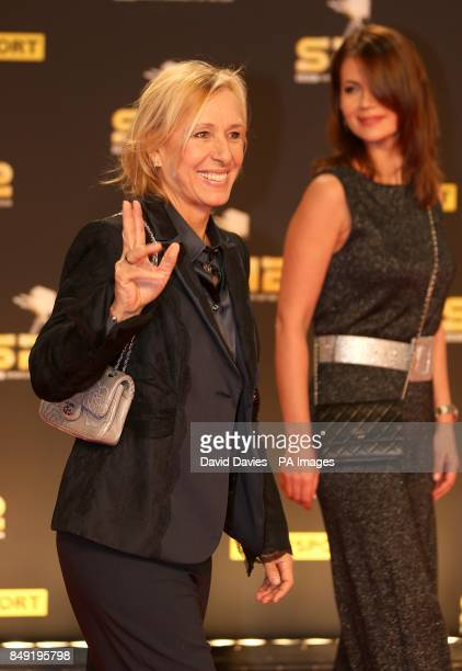 Martina Navratilova arriving for the Sports Personality of the Year Awards 2012 at the ExCel Arena London