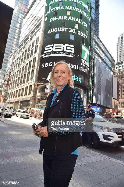 Martina Navratilova at the Tennis Channel Rings The Nasdaq Stock Market Opening Bell at NASDAQ MarketSite on August 30 2017 in New York City