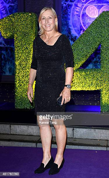 Martina Navratilova attends the Wimbledon Champions Dinner at the Royal Opera House on July 6 2014 in London England