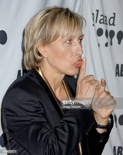 Martina Navratilova during 18th Annual GLAAD Media Awards Los Angeles Arrivals at Kodak Theatre in Hollywood California United States