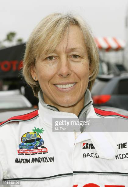 Martina Navratilova during 31st Annual Toyota Pro/Celebrity Race Press Day at Downtown in Long Beach California United States