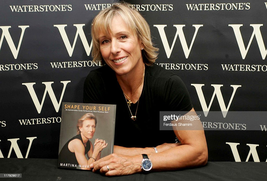 "Martina Navratilova Book Signing for ""Shape Yourself"" at Waterstone's in London"