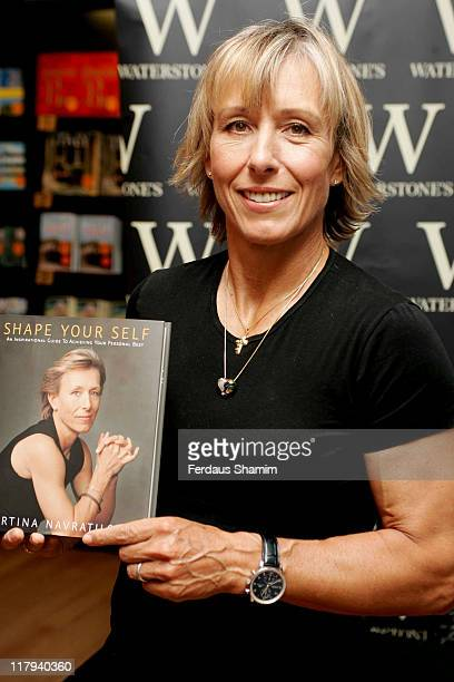 Martina Navratilova during Martina Navratilova Book Signing for 'Shape Yourself' at Waterstone's in London July 11 2006 at Waterstones london in...