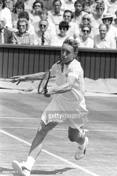 Martina Navratilova in action during the final which she went on to win 60 63