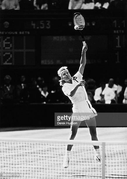 Martina Navratilova loses to Steffi Graf in the Women's Singles finals at Wimbledon London 2nd June 1988
