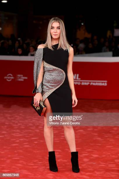 Martina Pinto walks a red carpet for 'Borg McEnroe' during the 12th Rome Film Fest at Auditorium Parco Della Musica on November 3 2017 in Rome Italy