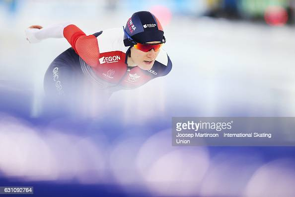 Martina Sablikova of Czech Republic competes in the Ladies Allround 3000m during day 1 of the European Speed Skating Championships at icerink Thialf...