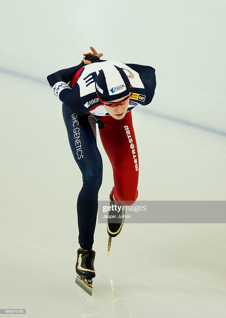 <a gi-track='captionPersonalityLinkClicked' href=/galleries/search?phrase=Martina+Sablikova&family=editorial&specificpeople=799963 ng-click='$event.stopPropagation()'>Martina Sablikova</a> of the Czech Republic competes on her way to gold during the 5000m race on day three of the Essent ISU World Single Distances Speed Skating Championships at the Adler Arena Skating Center on March 23, 2013 in Sochi, Russia.