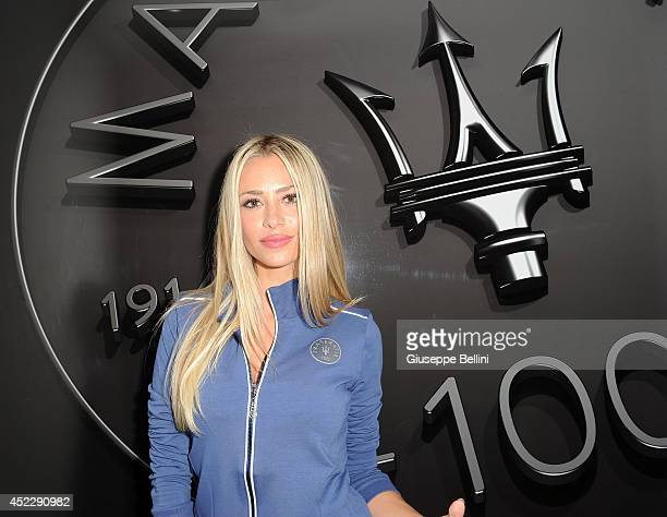 Martina Stella attends the Maserati Centennial Tour on July 17 2014 in Milano Marittima near Cervia Italy