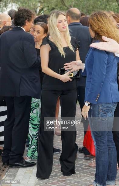 Martina Stella attends the Palinsesti Rai photocall at Cavalieri Hilton Hotel on June 20 2012 in Rome Italy