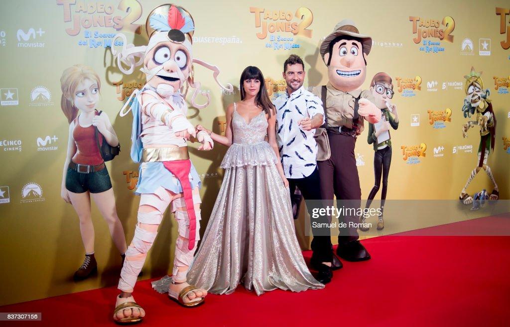 Martina Stoessel and David Bisbal attend the 'Tadeo Jones 2. El Secreto Del Rey Midas' Madrid Premiere on August 22, 2017 in Madrid, Spain.