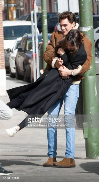 Martina Stoessel and Pepe Barroso jr are seen sighting on February 24 2017 in Madrid Spain