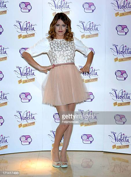 Martina Stoessel attends a photocall for 'Violetta' at Emperador Hotel on June 24 2013 in Madrid Spain