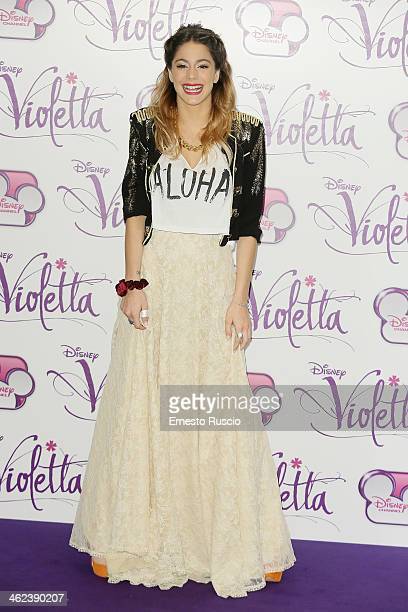 Martina Stoessel attends the 'Violetta' photocall at NH Hotel on January 13 2014 in Rome Italy