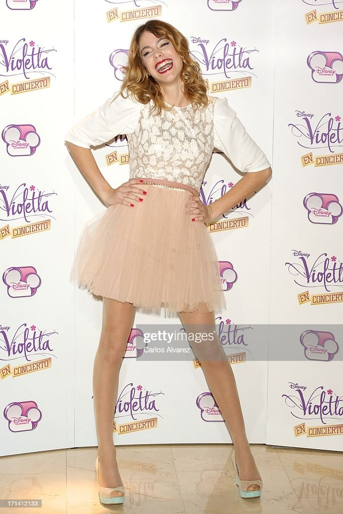 Martina Stoessel attends the 'Violetta' photocall at the Emperador Hotel on June 24, 2013 in Madrid, Spain.