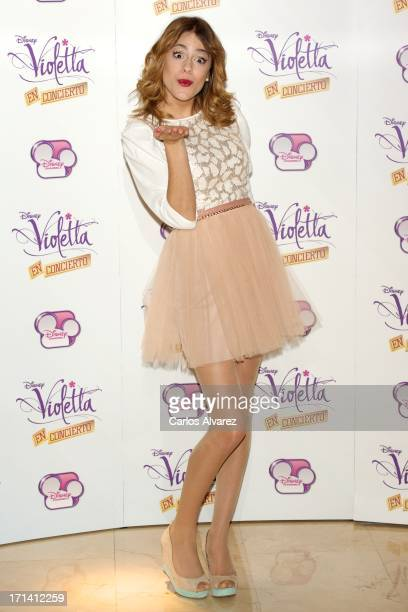Martina Stoessel attends the 'Violetta' photocall at the Emperador Hotel on June 24 2013 in Madrid Spain