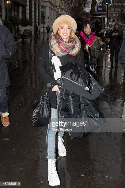 Martina Stoessel is seen on January 16 2014 in Paris France