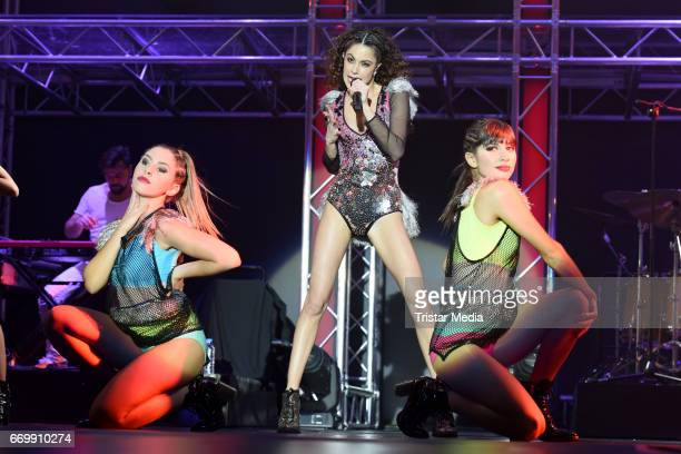 Martina Stoessel performs during her 'TINI Got me stared' tour at MercedesBenz Arena on April 18 2017 in Berlin Germany
