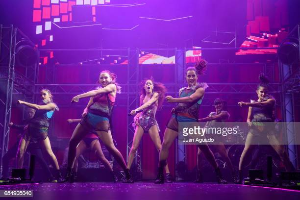 Martina Stoessel performs on stage at Palacio de Vistalegre on March 18 2017 in Madrid Spain