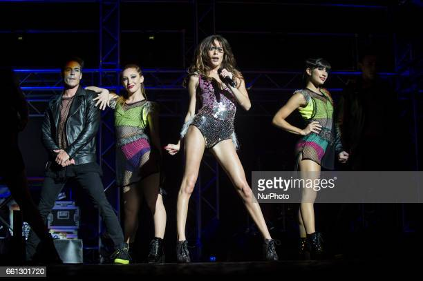 Martina Stoessel performs on stage at Palalottomatica in Rome Italy on 30 March 2017