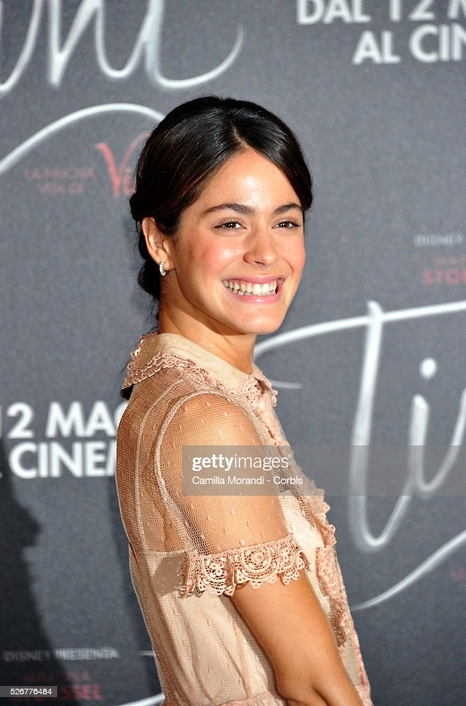 <a gi-track='captionPersonalityLinkClicked' href=/galleries/search?phrase=Martina+Stoessel&family=editorial&specificpeople=11048236 ng-click='$event.stopPropagation()'>Martina Stoessel</a> smiles on the red carpet at the 'Tini' photocall on April 29, 2016 in Rome, Italy.