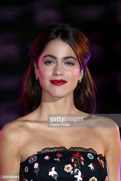 Martina Stoessel 'Tini The New Life Of Violetta' Premiere In Rome on April 29 2016 in Rome Italy