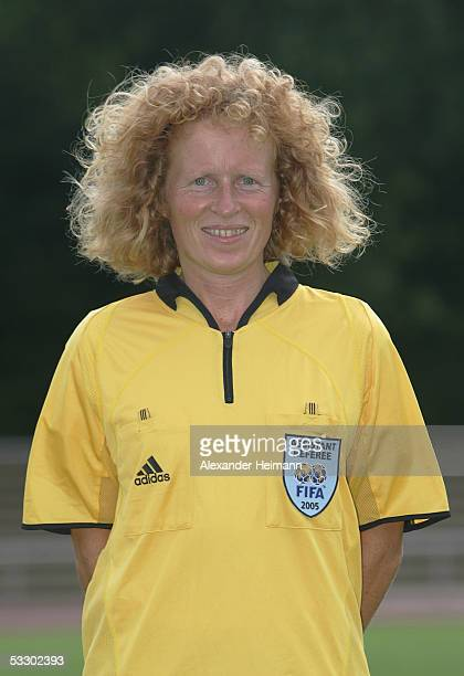 Martina StorchSchaefer poses during the German Football Federation referee seminar on July 29 2005 in Neu Isenburg near Frankfurt Germany