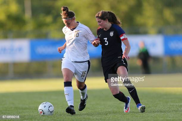 Martina Tomaselli of Italy U16 in action during the 2nd Female Tournament 'Delle Nazioni' final match between Italy U16 and USA U16 on April 29 2017...