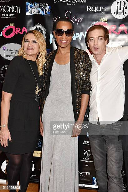 Martine Antonini from Meghanora Vincent Mc Doom and Ludovic Chancel attend The Meghanora Auction Fashion Show to Benefit Meghanora Children Care...